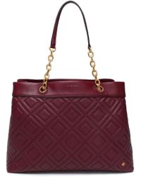 Tory Burch - Quilted Leather Tote - Lyst
