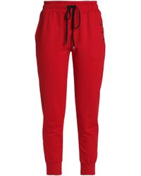 Koral - Embellished Cotton Track Trousers - Lyst