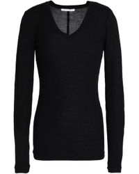 Duffy - Ribbed Jersey Top - Lyst