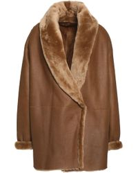 Vince - Reversible Shearling Jacket Light Brown - Lyst