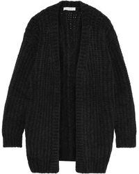 IRO Yahk Ribbed Wool-blend Cardigan Anthracite - Black