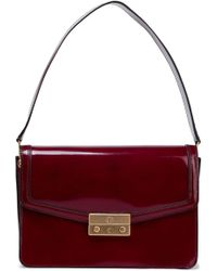 Tory Burch - Glossed-leather Shoulder Bag - Lyst