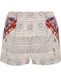 Camilla   Printed Faille Shorts   Lyst
