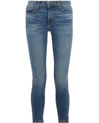 Current/Elliott - The High Waist Stiletto Grosgrain-trimmed High-rise Skinny Jeans - Lyst