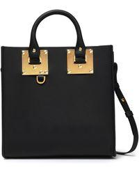 Sophie Hulme Albion Square Matte-leather Shoulder Bag Black