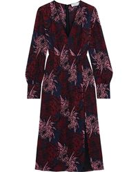 A.L.C. - Bailey Pleated Floral-print Silk Midi Dress - Lyst