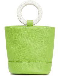 Simon Miller Bonsai Textured-leather Bucket Bag Lime Green
