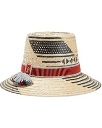 Yosuzi Susana Tassel-trimmed Woven Straw Hat - Black