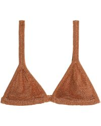 Best Sale Balmain Woman Metallic Knitted Bra Top Copper Size 36 Balmain Free Shipping Wiki Cheap Footlocker Finishline With Credit Card Cheap Price Real Online YXcx5