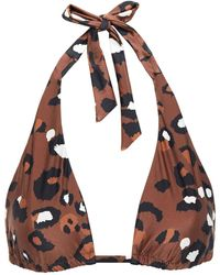The Upside Adriana Leopard-print Triangle Bikini Top - Multicolour
