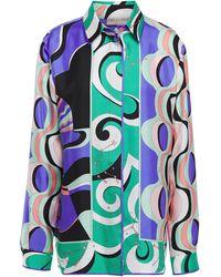 Emilio Pucci Printed Silk-twill Shirt - Multicolor