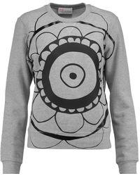 RED Valentino - Printed Cotton Sweatshirt - Lyst