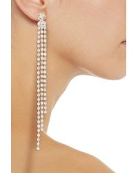 MM6 by Maison Martin Margiela Tone Crystal Earrings - Metallic