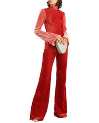 Ellery Footnote Striped Stretch-velvet Flared Trousers