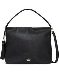 Kate Spade Kingston Drive Pebbled-leather Shoulder Bag Black