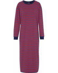 Sleepy Jones Woman Striped Cotton-jersey Nightdress Navy Size S Sleepy Jones qXs2h7mO