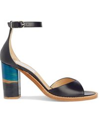 Gabriela Hearst Adi Suede Sandals Navy - Blue
