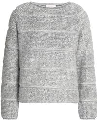 See By Chloé - Striped Bouclé-knit Sweater - Lyst