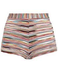Missoni Mare Metallic Knitted Shorts - Multicolour