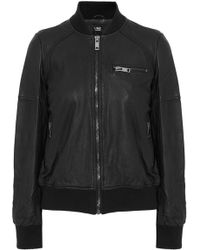 Line - Leather Bomber Jacket - Lyst
