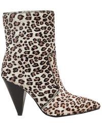 Stuart Weitzman Atomic West Leopard-print Calf Hair Ankle Boots - Multicolour