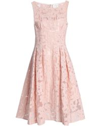 Kate Spade - Pleated Fil Coupé Organza Dress - Lyst
