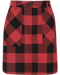 Tomas Maier Gingham Cotton-twill Mini Skirt Red