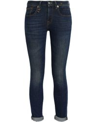 R13 - Kate Cropped Mid-rise Skinny Jeans - Lyst