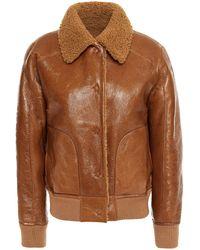 REMAIN Birger Christensen Shearling Jacket - Brown