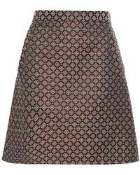 Etro Jacquard Mini Skirt - Black