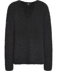 Line - Open-knit Wool-blend Sweater Midnight Blue - Lyst