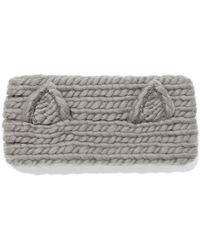 Eugenia Kim - Kat Crystal-embellished Cable-knit Wool Headband - Lyst