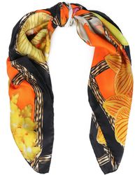 Roberto Cavalli - Printed Silk-twill Scarf - Lyst