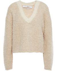 IRO Yates Copped Alpaca-blend Bouclé Sweater Beige - Natural