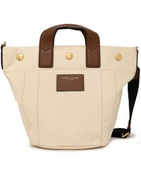 Marc Jacobs - Leather-trimmed Canvas Shoulder Bag - Lyst