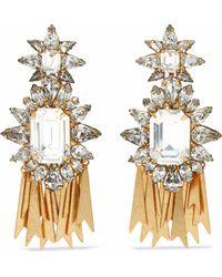 Elizabeth Cole - 24-karat Gold-plated Swarovski Crystal Earrings - Lyst