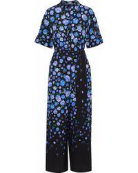 2b92c197c6e0 Lela Rose - Woman Cropped Floral-print Crepe Wide-leg Jumpsuit Multicolor -  Lyst