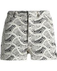 IRO - Embroidered Gauze Shorts - Lyst