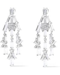 Noir Jewelry Récolter Rhodium-plated Crystal Earrings Silver - Metallic