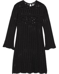 Étoile Isabel Marant - Hariett Open-knit Linen And Cotton-blend Mini Dress - Lyst