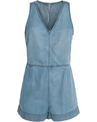 Rag & Bone - Mojave Tie-back -chambray Playsuit - Lyst