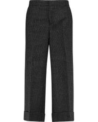 Marni - Checked Wool-canvas Straight-leg Trousers - Lyst