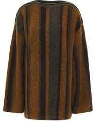 Acne Studios Striped Brushed-knitted Sweater Army Green