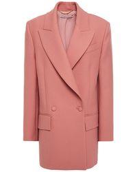 Emilia Wickstead Mallory Double-breasted Gabardine Blazer Antique Rose - Pink