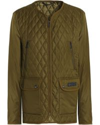 Belstaff - Woman Quilted Shell Jacket Army Green - Lyst