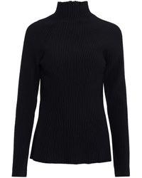 Carolina Herrera Ribbed-knit Turtleneck Jumper - Black