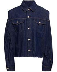 MM6 by Maison Martin Margiela Convertible Denim Jacket - Blue