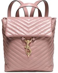 Rebecca Minkoff Quilted Leather Backpack Lilac - Purple