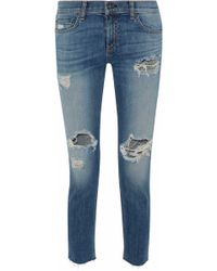Rag & Bone Skinny Leg Mid Denim - Blue