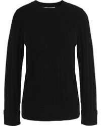 Goat Library - Woman Ribbed Cashmere Jumper Black - Lyst